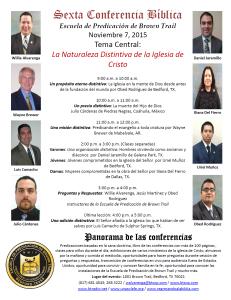 Invitación de la sexta conferencia bíblica 2015